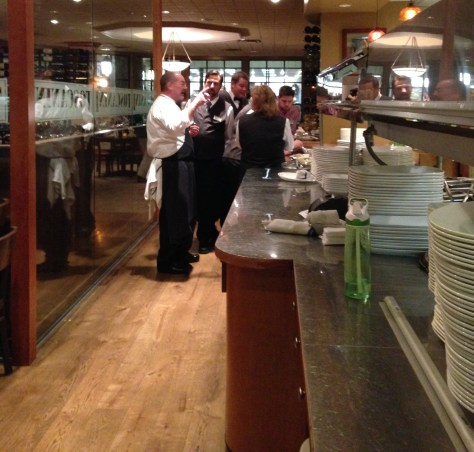 Chef Paul Wade in his element as service begins at Toscanini Ristorante in Beaver Creek Resort, CO.