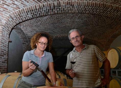 Elio Altare with oldest daughter Silvia. Photo Credit - Elisabetta Vacchetto