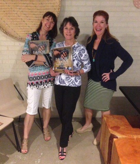 Valerie Caruso (left) and Stephanie Davis (right) with me at PlaformT.
