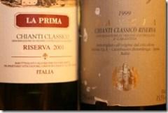 two old Chianti riservas