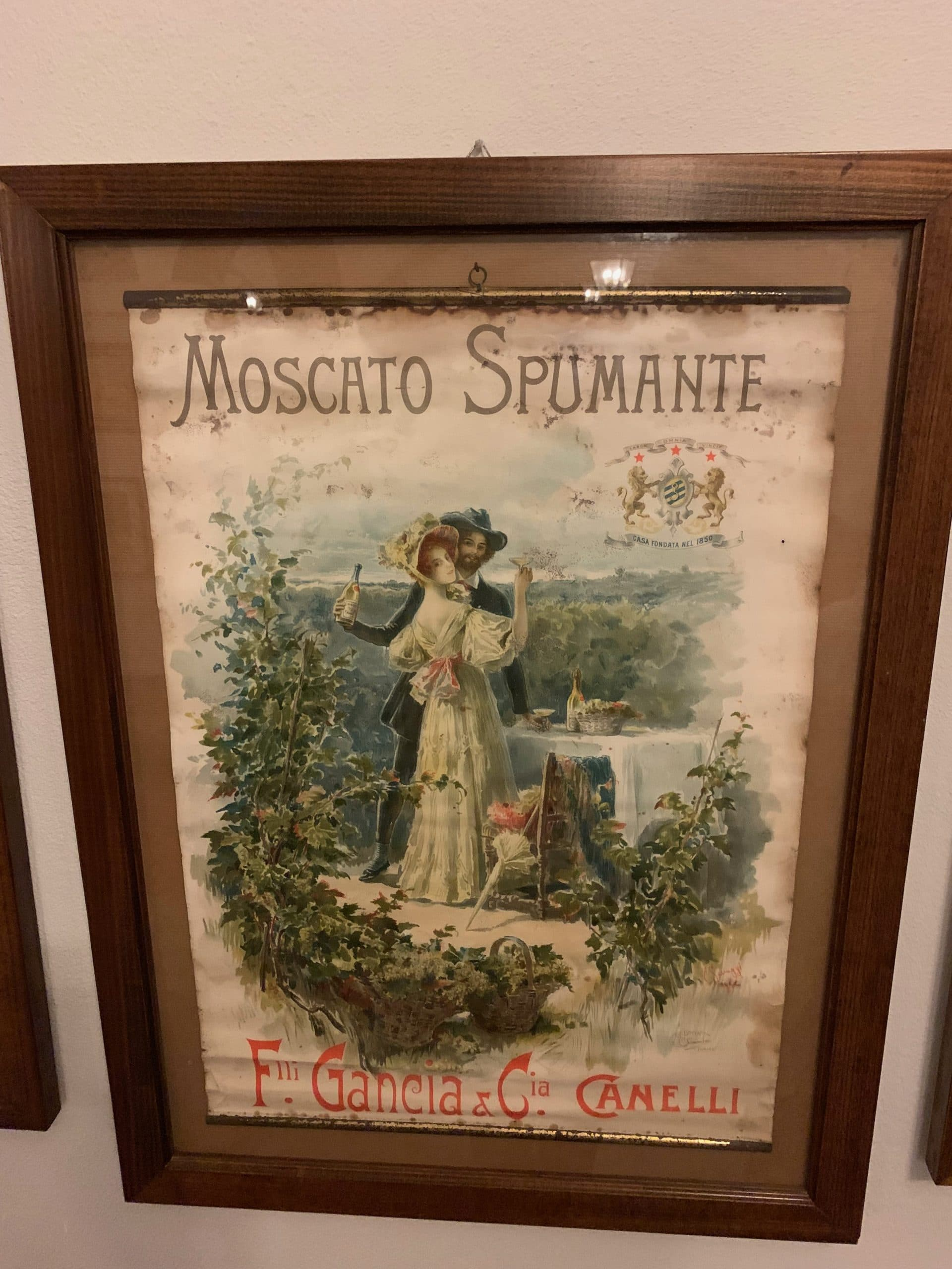 First Moscato advert, Gancia, Asti