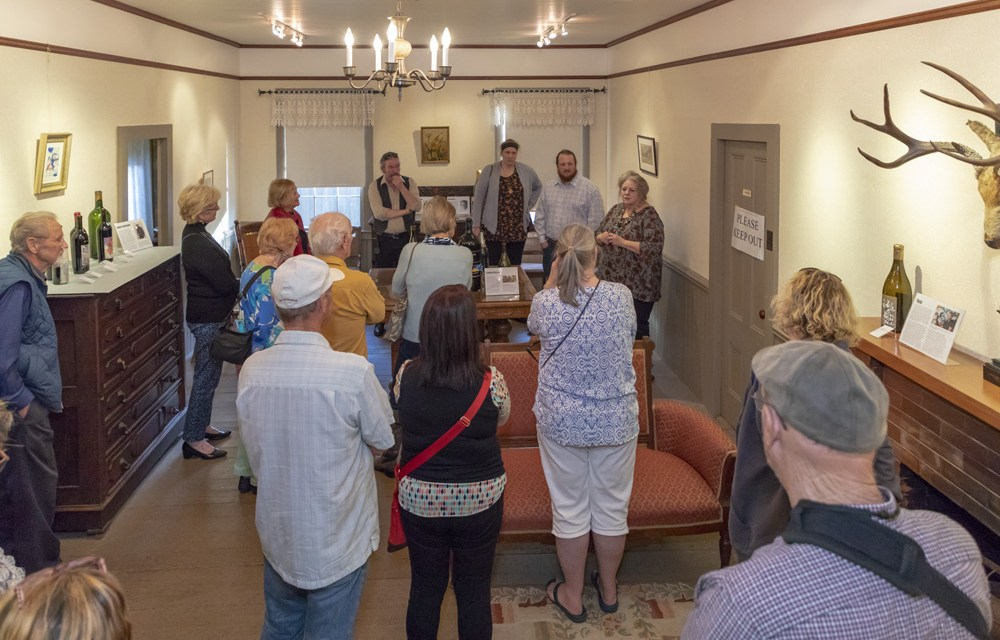 Wine Becomes Art Exhibit Opening in the Historic Dallidet Adobe