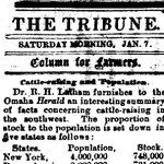 1871 Local Newspaper Column for Farmers – One Hundred and Fifty Years Ago