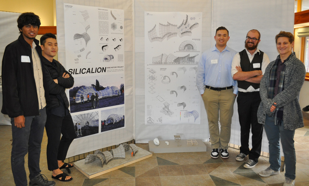Silicalion: Miles Henry, Architecture ; Varun Maniar, Architecture; Won Jeong, Architecture; Teddy Powers, Construction Management.