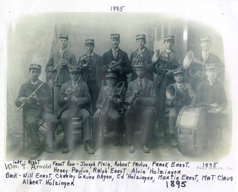 The Creston Band was formed by Will Ernst in 1894.