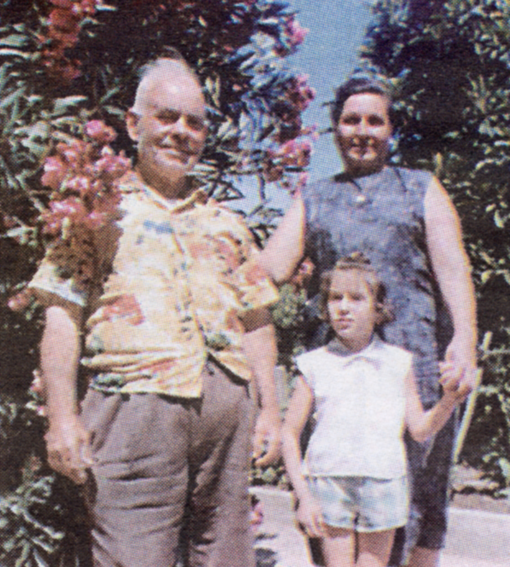 Amedeo and Rina Martinelli with her youngest daughter Silvana, shortly after Rina's arrival in Templeton in 1959.