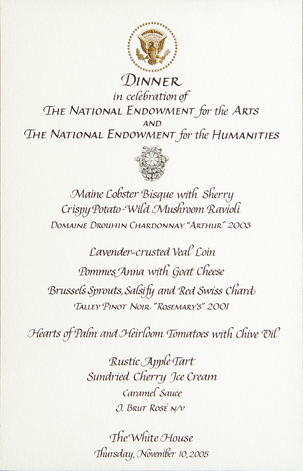 Talley White House Letter-Nov10-2005