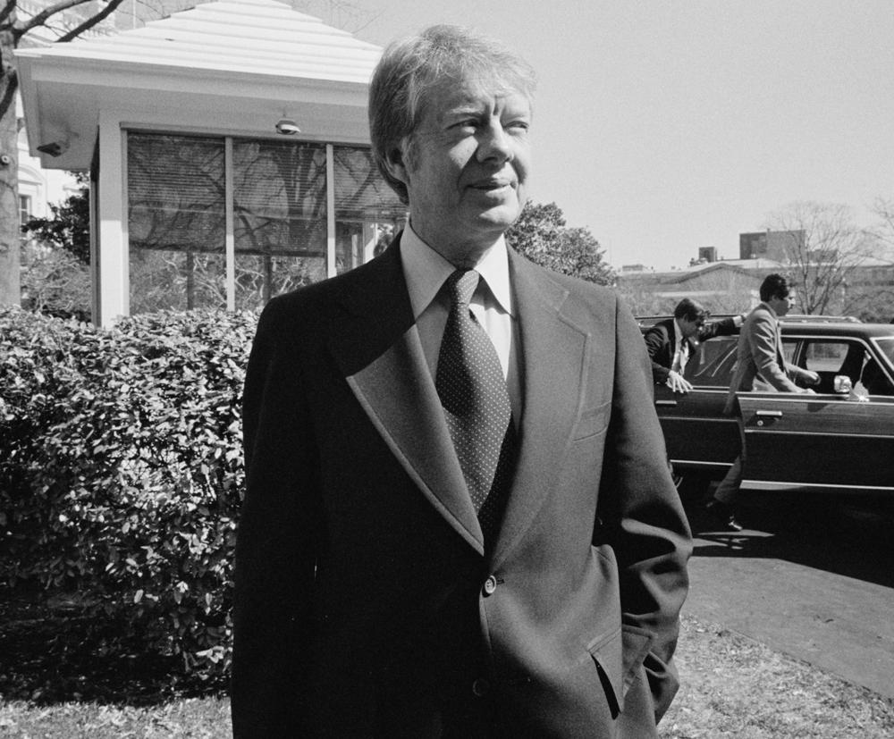 Trikosko, Marion S, photographer. President Jimmy Carter at the White House, Washington, D.C. Washington D.C, 1977. Mar. 8. Photograph. https://www.loc.gov/item/2005696407/.