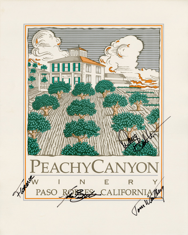Peachy Canyon Winery poster
