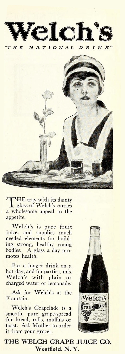 """Welch's """"The National Drink"""", 1921"""