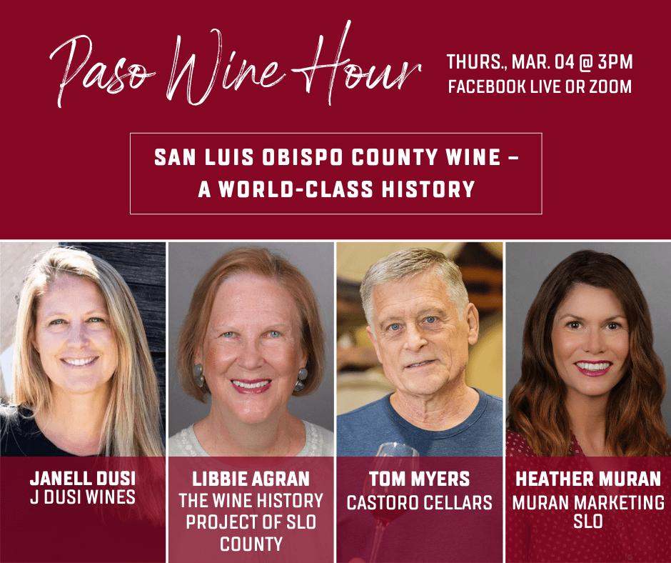Paso Wine Hour Conversation about San Luis Obispo County Wine book