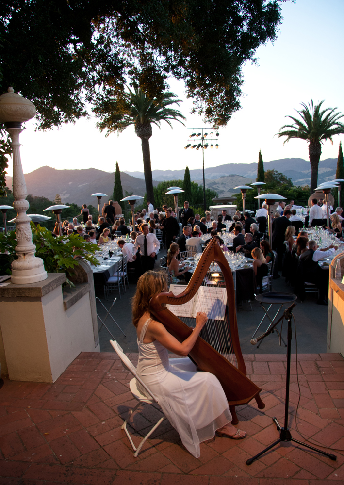 Jeanne Martin, harpist for the Hearst Castle Wine Dinners at the Central Coast Wine Classic