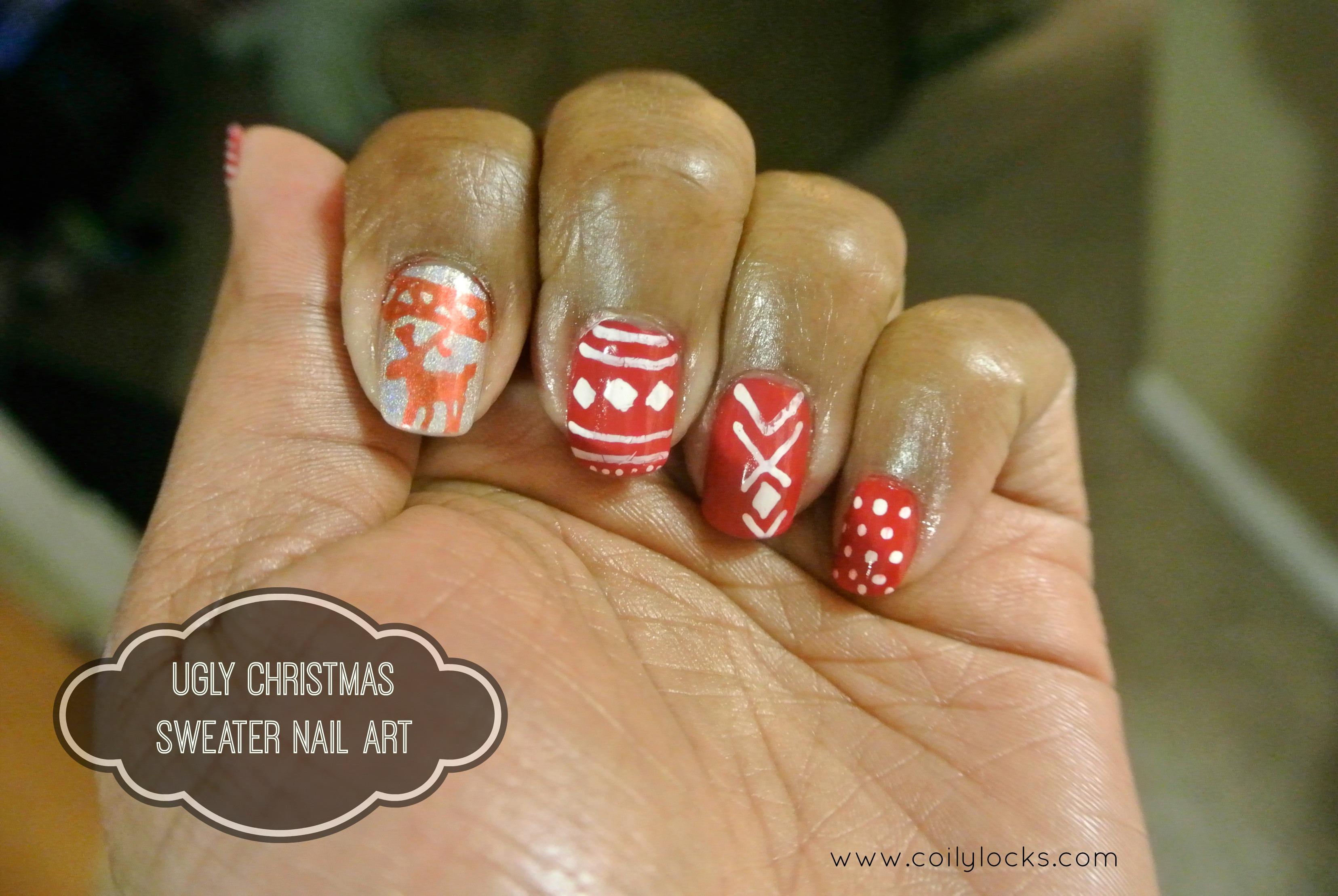 Manicure Monday Ugly Christmas Sweater Nail Art Giveaway