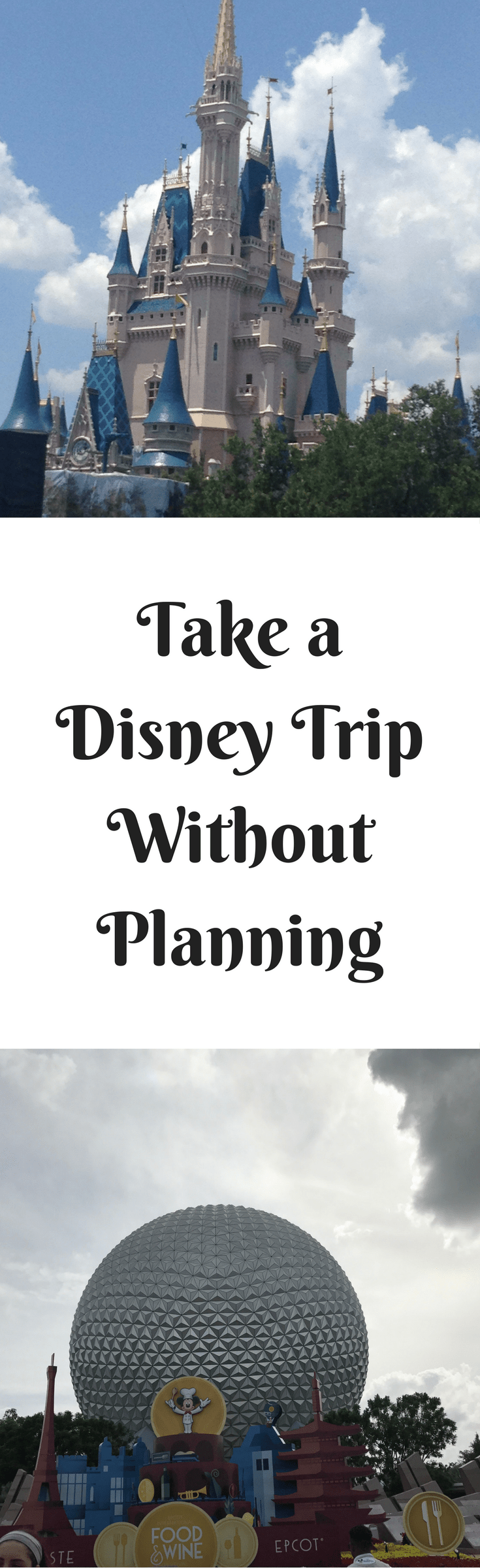 Disney vacations can involve a lot of planning but they don't have to, you can take a Disney Vacation without planning.
