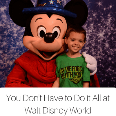 7 Reasons You Don't Have to Do It All at Walt Disney World