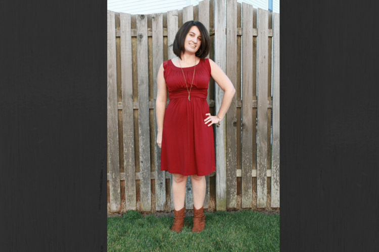 Maternity Stitch Fix: Gilli Kamile Jersey Ruched Detail Dress.