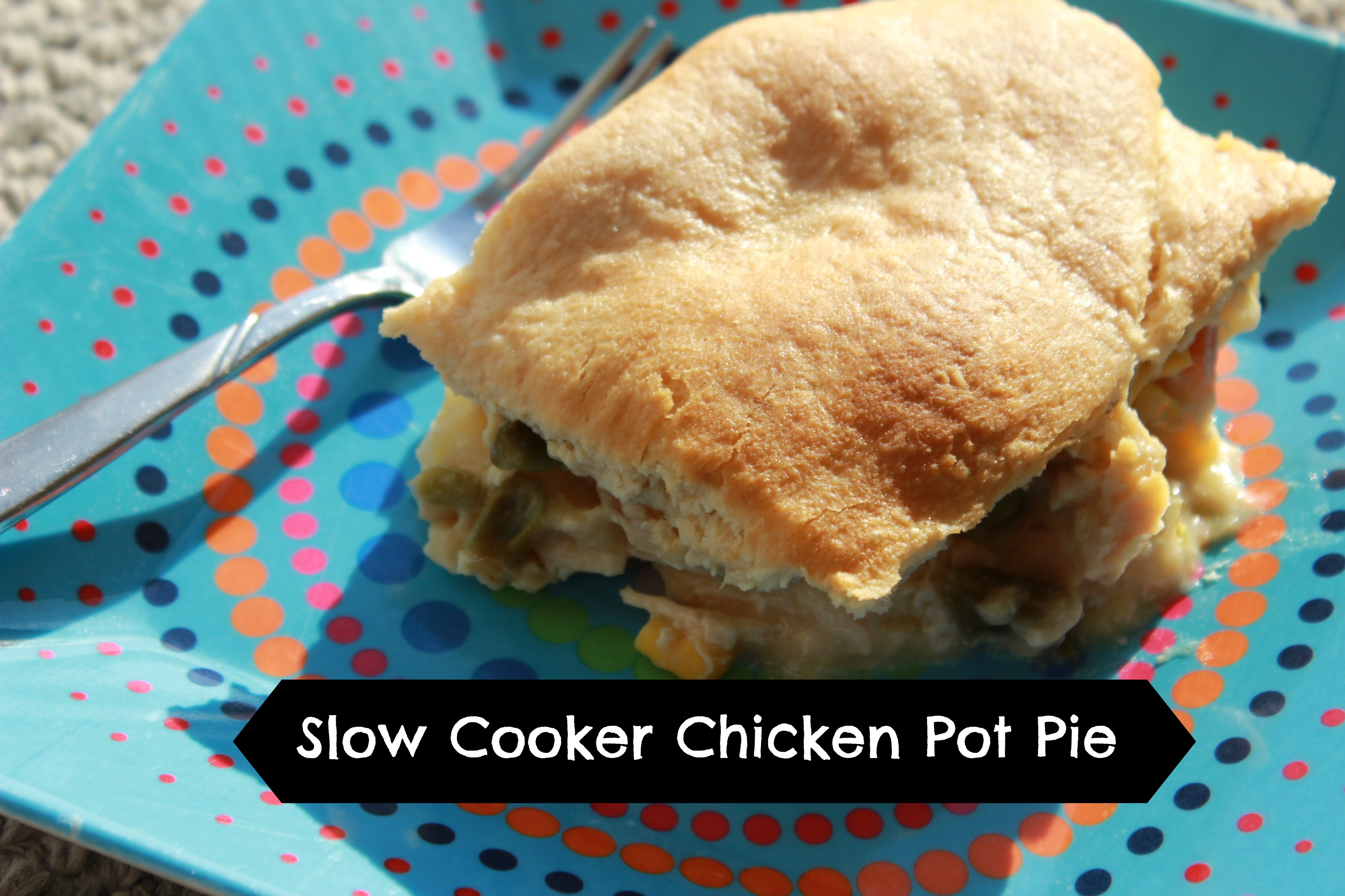 Slow cooker chicken pot pie, kid approved and a quick meal for families.