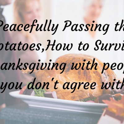 How to Survive Thanksgiving (with relatives you might not agree with)