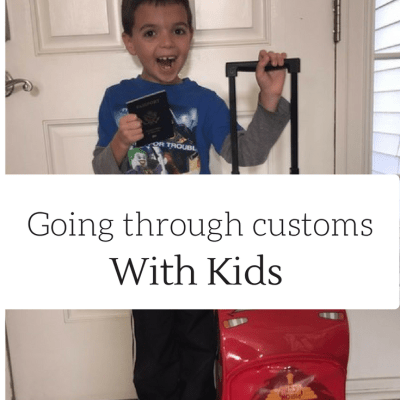 Going Through Immigration and Customs with Kids