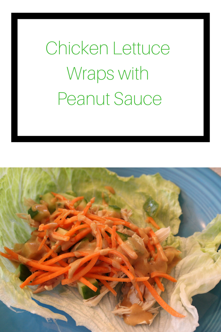 lettuce wraps with peanut sauce