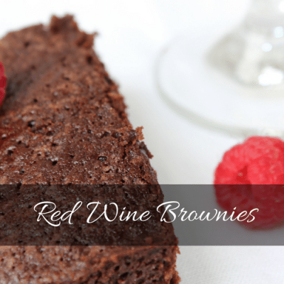Red Wine Brownies a Simple, Yet Fancy Dessert