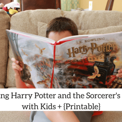 Reading Harry Potter and the Sorcerer's Stone with Kids{+Printable}