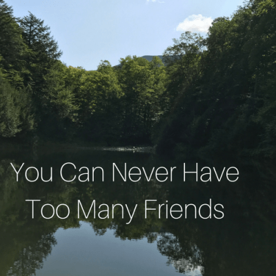 You Can Never Have Too Many Friends