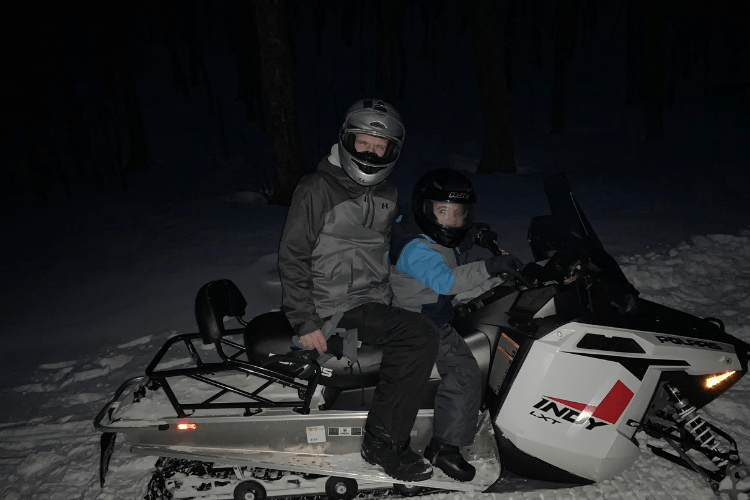 Smugglers' Notch snowmobiling