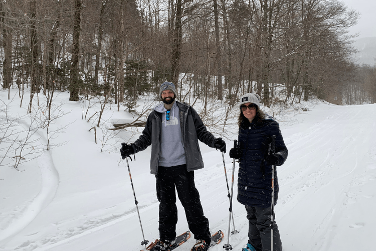 snowshoeing at Smugglers' Notch