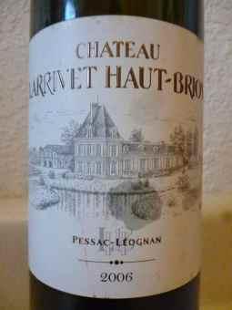 2006 Chateau Larrivet Haut Brion