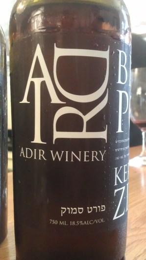 Adir Port Blush - side label