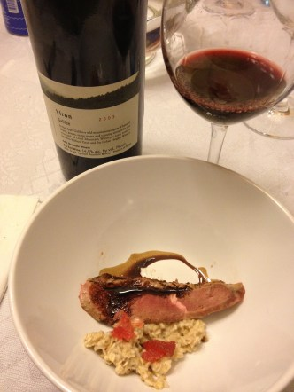 Duck Breast, Balsamic, Strawberry Reduction and 2003 yiron