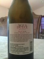 2010 Agua Dulce Syrah - back label