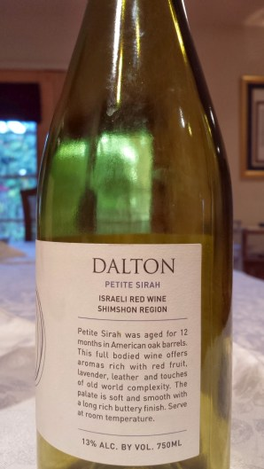 2010 Dalton Petite Sirah - side label