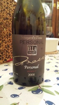 2008 Ella Valley Personal, Vinyard Choice