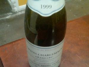 Domaine Bruno Clair, Corton Charlemagne Grand Cru 1999