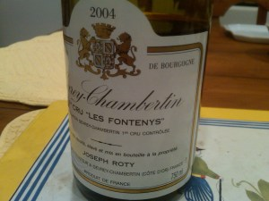 Domaine Joseph Roty, Gevrey-Chambertin, Les Fontenys 1er Cru 2004