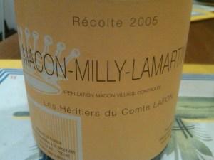 Les Heritiers du Comtes Lafon, Mâcon Villages 2005