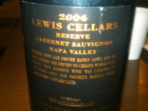Lewis Cellars Reserve Cabernet Sauvignon Napa Valley 2004