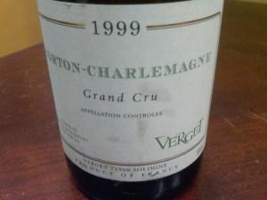 Maison Verget, Corton Charlemagne Grand Cru 1999