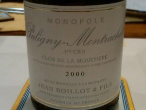 Jean Boillot Puligny Mouchere 2000