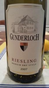 Gunderloch Medium Dry 2007 #1
