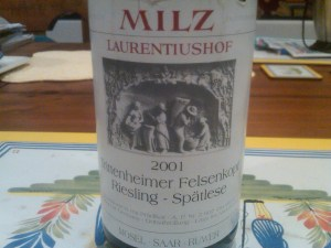 Milz Spatlese 2001