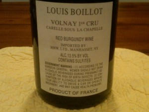 Louis Boillot Volnay 2008