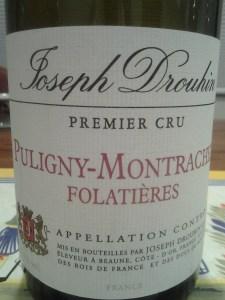 Joseph Drouhin Puligny Folatieres 2000