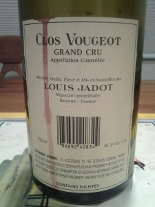 Jadot Clos Vougeot 1999 #1