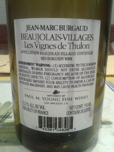 Jean-Marc Burgaud Beaujolais Thulon