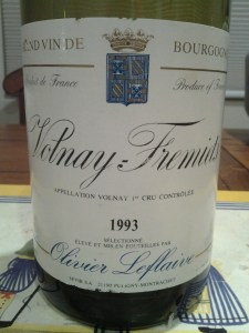 Olivier Leflaive Volnay Fremiets 1993