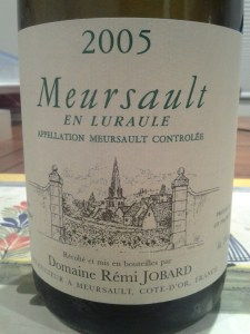 Remi Jobard, Meursault en Lurale (village) 2005 #1