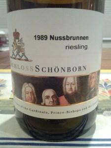 Schonborn Auslese 1989